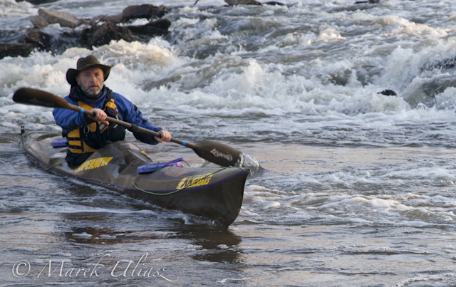 winter paddling on South Platte River