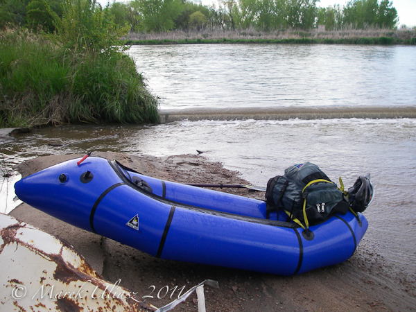 Alpacka packraft on South Platte River