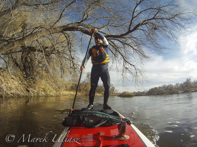 paddling SUP on South Platte River