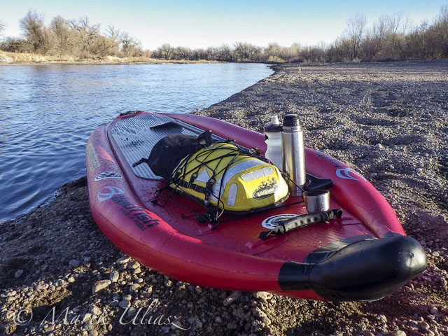Badfish SUP on South Platte River at Kersey