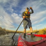 SUP paddling in COlorado