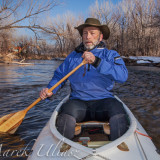 canoe paddling on the Poudre River
